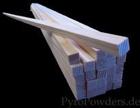 Leitstab, Quadratleiste, Kiefer, Modellbauleiste, Metallpulver, Chemikalien, PyroPowders.de, Laborladen, kaufen